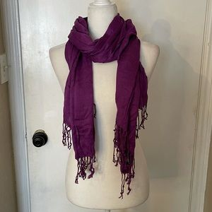 Ashley Cooper Purple Scarf